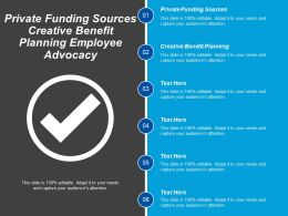 Private Funding Sources Creative Benefit Planning Employee Advocacy Cpb