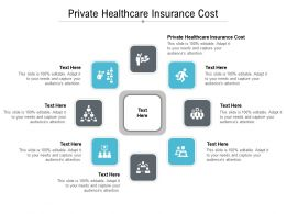 Private Healthcare Insurance Cost Ppt Powerpoint Presentation Icon Background Cpb