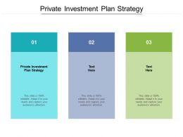 Private Investment Plan Strategy Ppt Powerpoint Presentation Ideas Professional Cpb