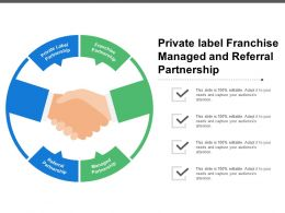 Private Label Franchise Managed And Referral Partnership