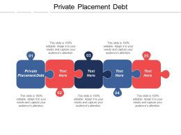 Private Placement Debt Ppt Powerpoint Presentation Icon Graphics Cpb