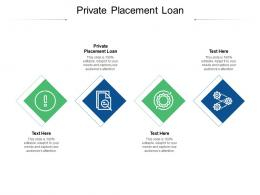 Private Placement Loan Ppt Powerpoint Presentation Professional Elements Cpb