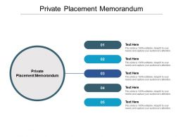 Private Placement Memorandum Ppt Powerpoint Presentation Styles Good Cpb