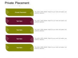 Private Placement Ppt Powerpoint Presentation Layouts Professional Cpb