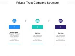 Private Trust Company Structure Ppt Powerpoint Portfolio Graphics Tutorials Cpb