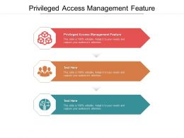 Privileged Access Management Feature Ppt Powerpoint Presentation Template Format Ideas Cpb