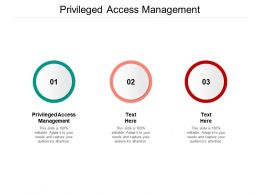 Privileged Access Management Ppt Powerpoint Presentation Styles Backgrounds Cpb