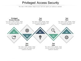 Privileged Access Security Ppt Powerpoint Presentation Professional Samples Cpb