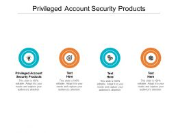Privileged Account Security Products Ppt Powerpoint Presentation Outline Pictures Cpb
