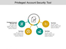 Privileged Account Security Tool Ppt Powerpoint Presentation Pictures Layout Cpb