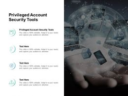 Privileged Account Security Tools Ppt Powerpoint Presentation Styles Format Ideas Cpb