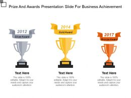 Prize And Awards Presentation Slide For Business Achievement Ppt Inspiration