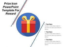 Prize Icon Powerpoint Template For Reward