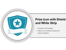Prize Icon With Shield And White Strip
