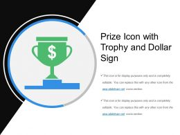 Prize Icon With Trophy And Dollar Sign