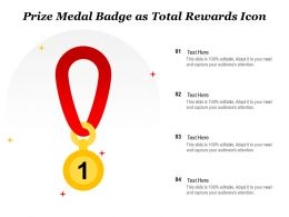 Prize Medal Badge As Total Rewards Icon