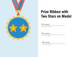 Prize Ribbon With Two Stars On Medal