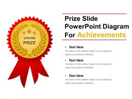 Prize Slide Powerpoint Diagram For Achievements Ppt Slide