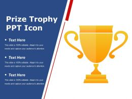 Prize Trophy Ppt Icon Presentation Deck
