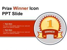 Prize Winner Icon Ppt Slide