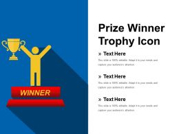 Prize Winner Trophy Icon Presentation Graphics