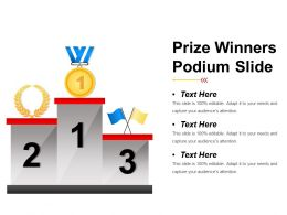 Prize Winners Podium Slide Presentation Ideas