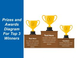 Prizes And Awards Diagram For Top 3 Winners Presentation Images Sample Ppt Files