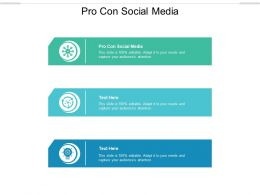 Pro Con Social Media Ppt Powerpoint Presentation Layouts Styles Cpb