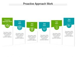 Proactive Approach Work Ppt Powerpoint Presentation Portfolio File Formats Cpb