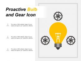 Proactive Bulb And Gear Icon