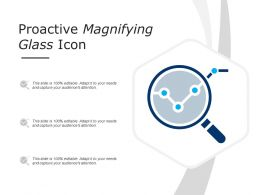 Proactive Magnifying Glass Icon