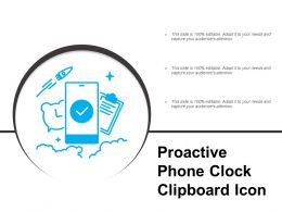 Proactive Phone Clock Clipboard Icon
