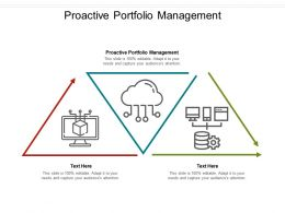 Proactive Portfolio Management Ppt Powerpoint Presentation Icon Influencers Cpb