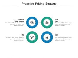 Proactive Pricing Strategy Ppt Powerpoint Presentation Gallery Slides Cpb
