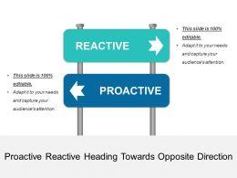 Proactive Reactive Heading Towards Opposite Direction