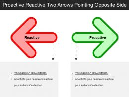 Proactive Reactive Two Arrows Pointing Opposite Side