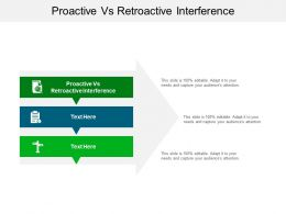 Proactive Vs Retroactive Interference Ppt Powerpoint Presentation Show Graphics Template Cpb