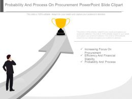 Probability And Process On Procurement Powerpoint Slide Clipart