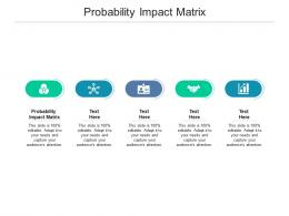 Probability Impact Matrix Ppt Powerpoint Presentation Layouts Graphics Template Cpb