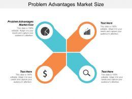 Problem Advantages Market Size Ppt Powerpoint Presentation Gallery Portrait Cpb