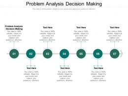 Problem Analysis Decision Making Ppt Powerpoint Presentation Professional Layouts Cpb
