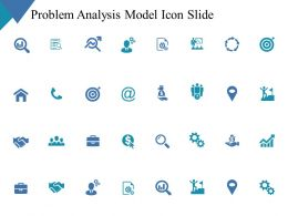 Problem Analysis Model Icon Slide Arrows C337 Ppt Powerpoint Presentation Layouts Ideas