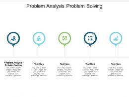 Problem Analysis Problem Solving Ppt Powerpoint Presentation Show Skills Cpb
