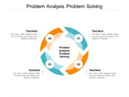 Problem Analysis Problem Solving Ppt Powerpoint Presentation Slides Backgrounds Cpb