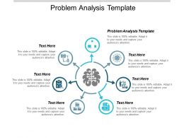 Problem Analysis Template Ppt Powerpoint Presentation Portfolio Backgrounds Cpb