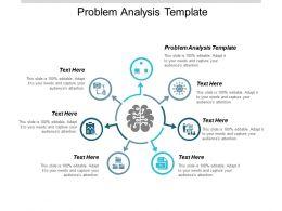 Problem Analysis Template Ppt Powerpoint Presentation Portfolio Backgrounds Cpb
