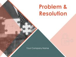 Problem And Resolution Powerpoint Presentation Slides