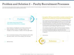 Problem And Solution 2 Faulty Recruitment Processes Shortage Of Skilled Labor Ppt Professional Designs