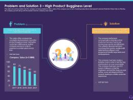 Problem And Solution 3 High Product Bugginess Level Customer Attrition In A BPO Ppt Visuals