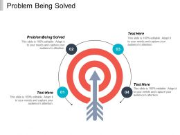 Problem Being Solved Ppt Powerpoint Presentation Ideas Backgrounds Cpb
